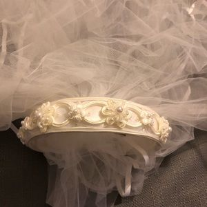 Wedding vail headband